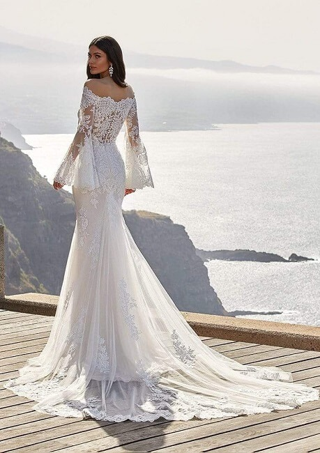 Cecil Wedding Dress by Provonias (back)