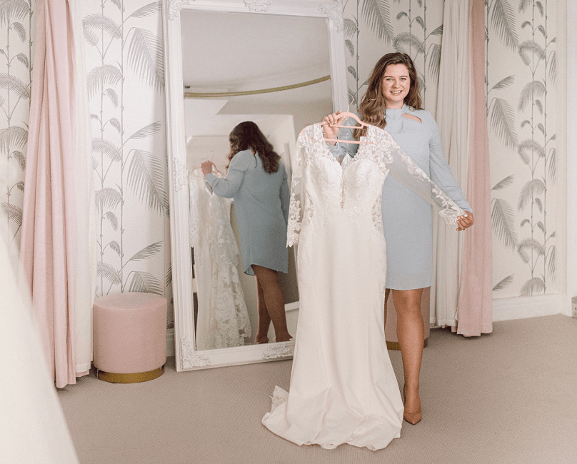 Hanni in MFV Bridal with wedding dress